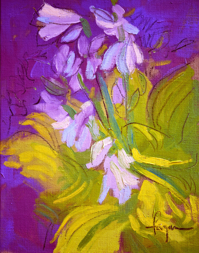 Hosta Painting, Print for Powder Room, Bedroom by Dorothy Fagan