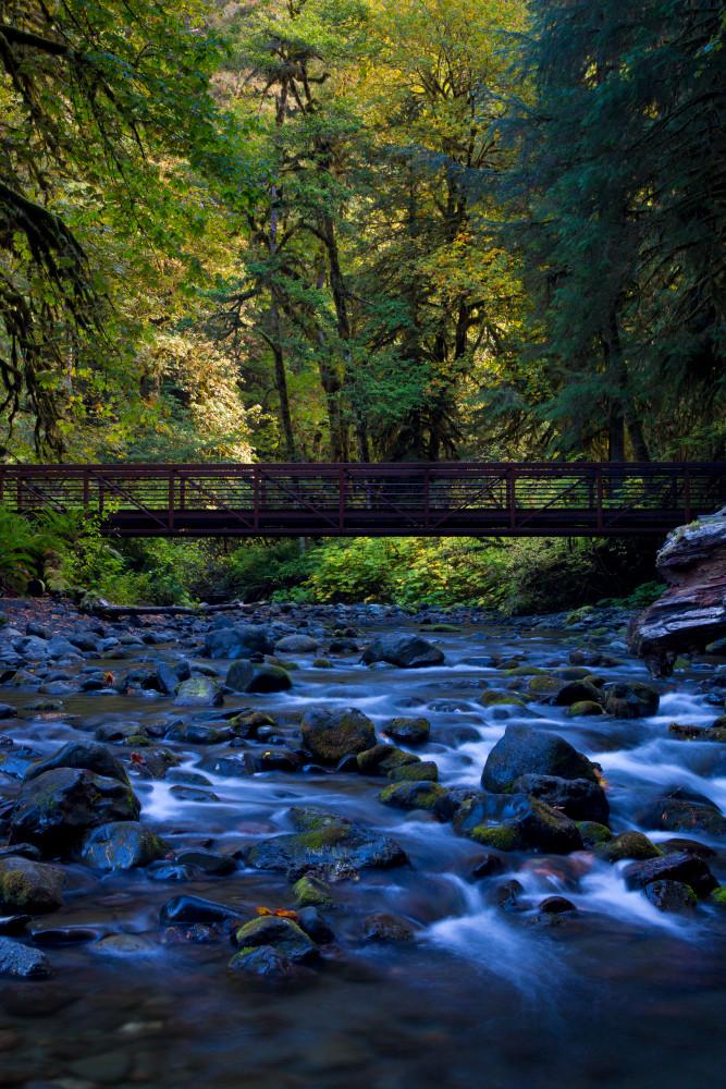 Bridge over smooth water