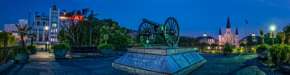 Washington Artillery Park in New Orleans