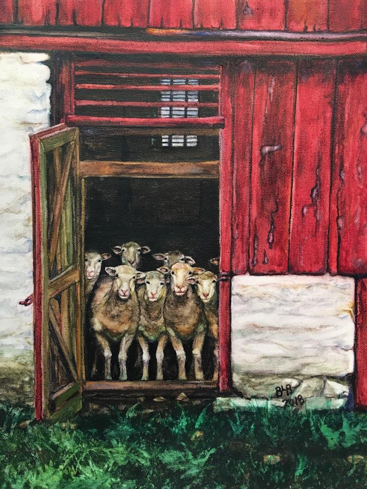 Sheep: Eight Dorsets At The Door Art   Blissful Bonita Art Studio & Gallery