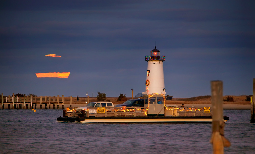 Edgartown Light Cold Moon