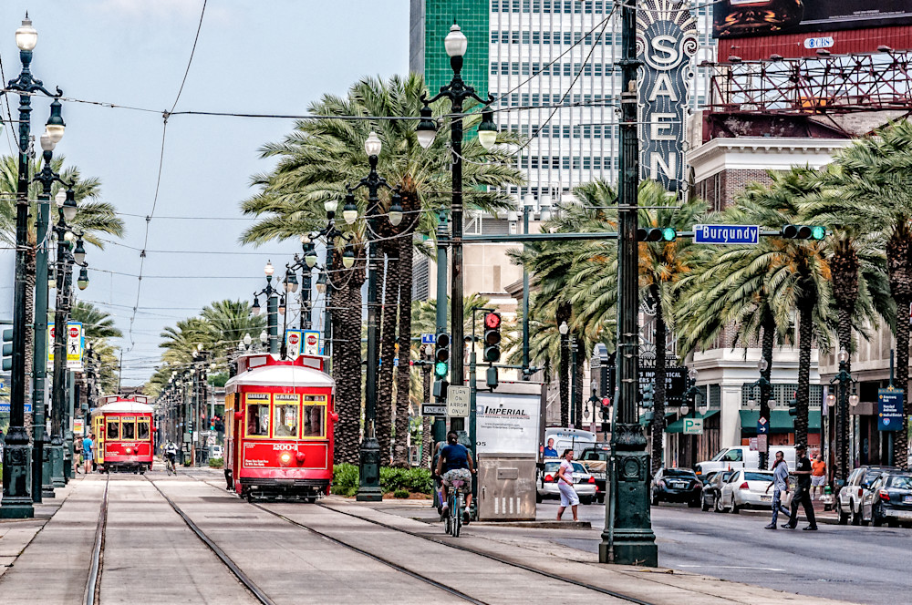 New Orleans streetcars French Quarter photography