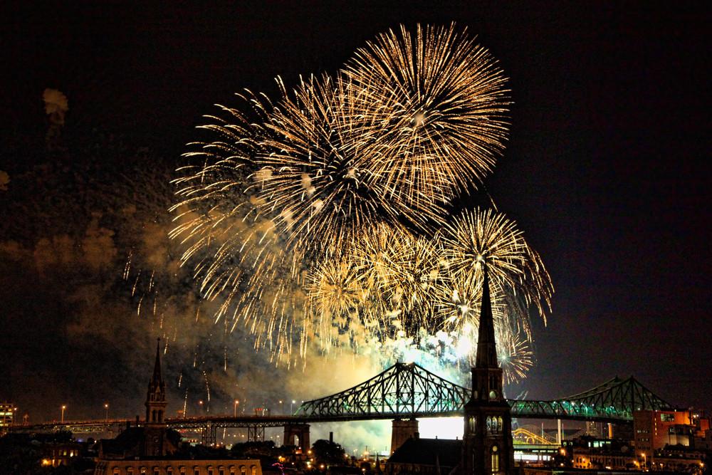 Exploding Fireworks in the Sky - Prints