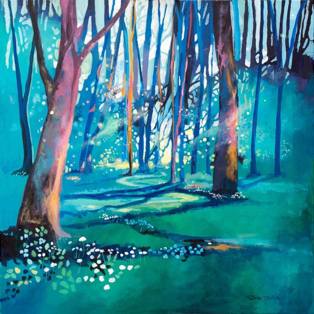 Tranquil woodland art print