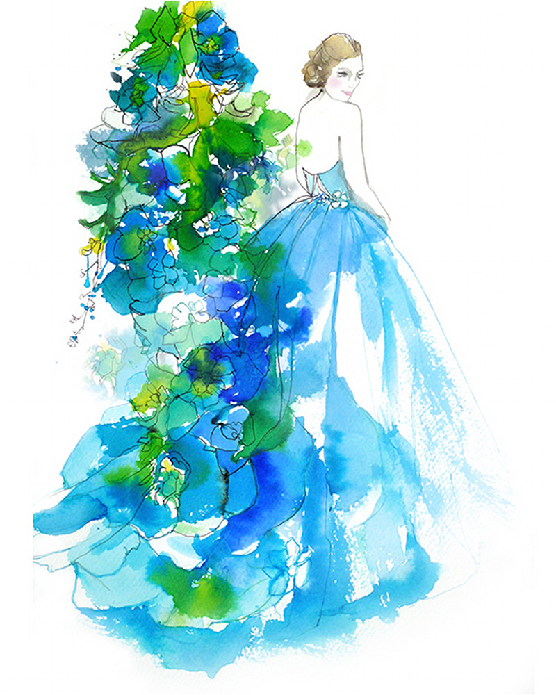 Delphinium Bride Art | Digital Arts Studio / Fine Art Marketplace