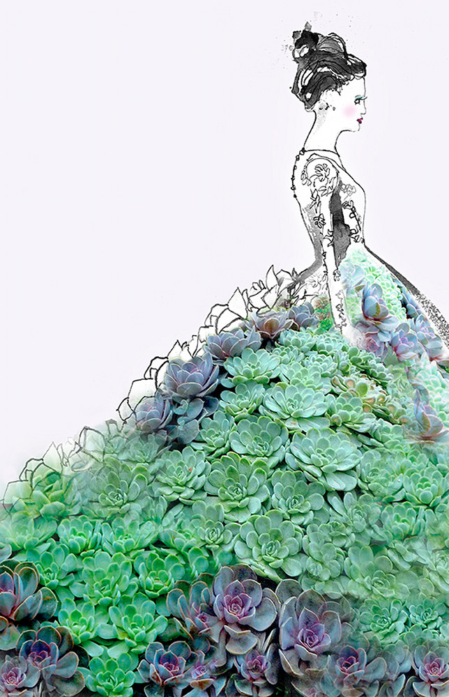 Succulent Gown Art   Digital Arts Studio / Fine Art Marketplace