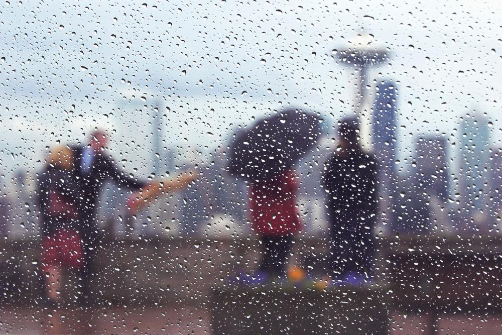 Celebration in rain