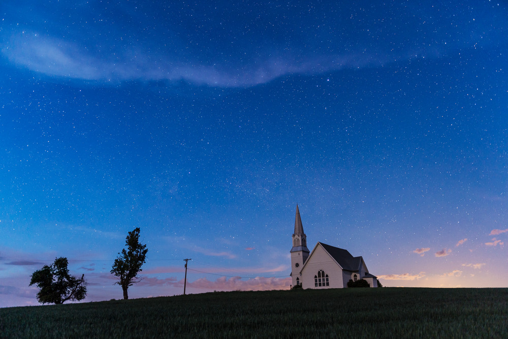 Blue hour stars Old Church