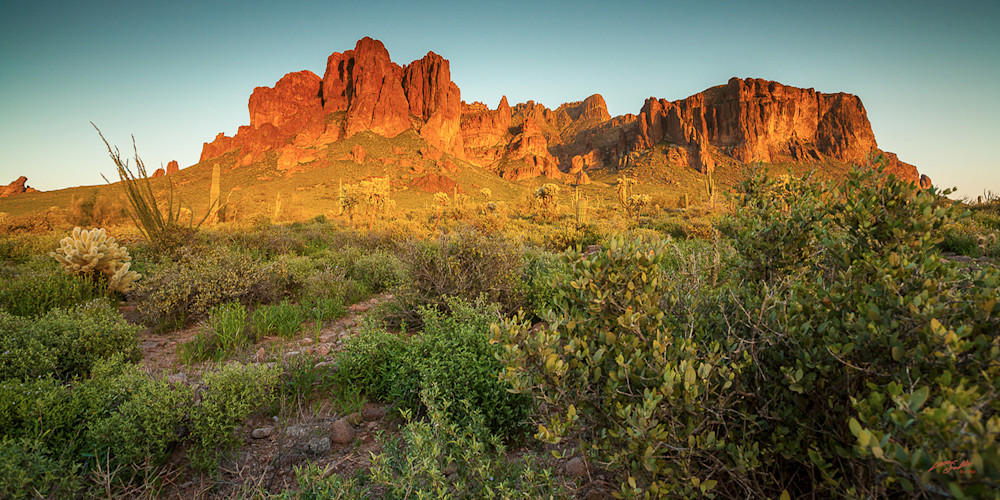 Superstitions -Sunset Pano
