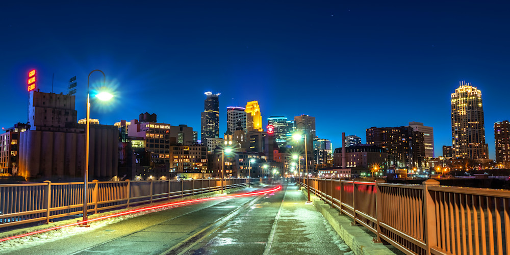 Stone Arch Scenery 2 - MPLS Skyline Art - William Drew
