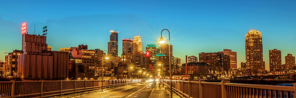 Stone Arch Scenery - Minneapolis Skyline Print | William Drew