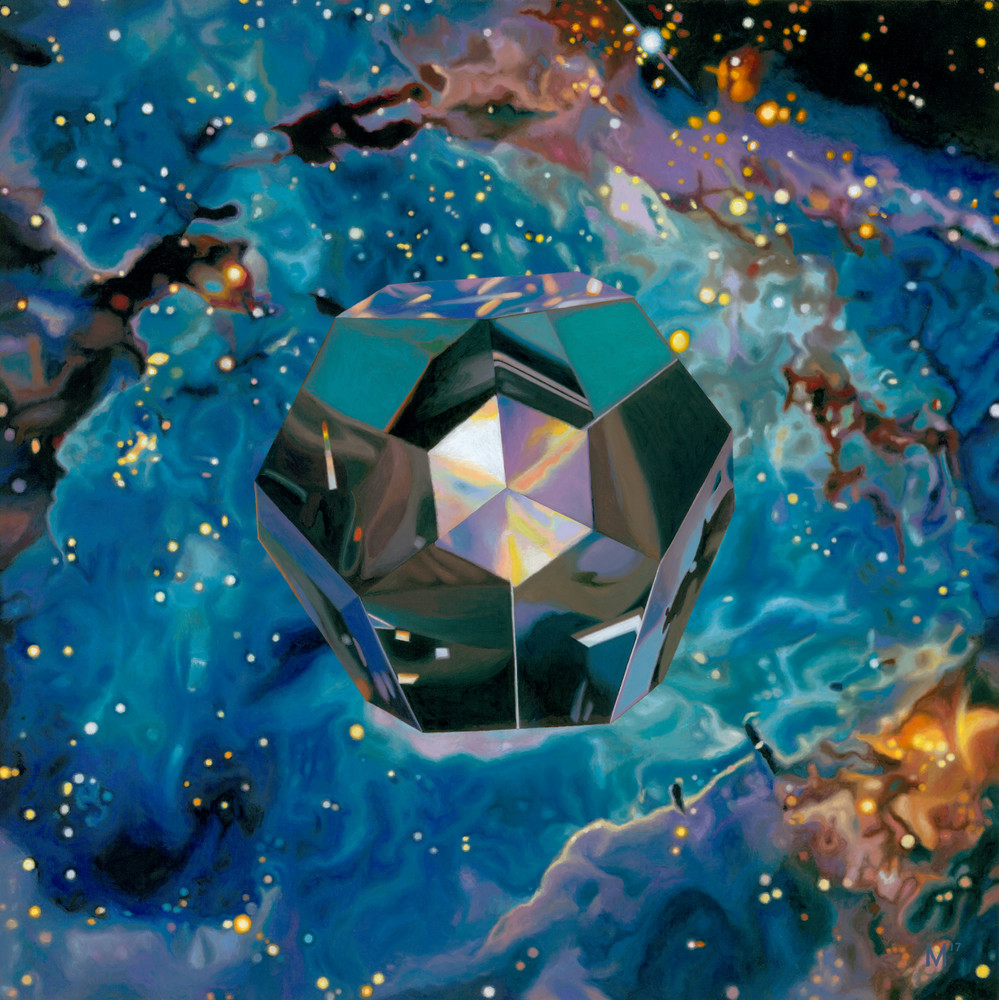 Dodecahedron/Quintessence, Geometric Paintings, The Art of Max Voss-Nester