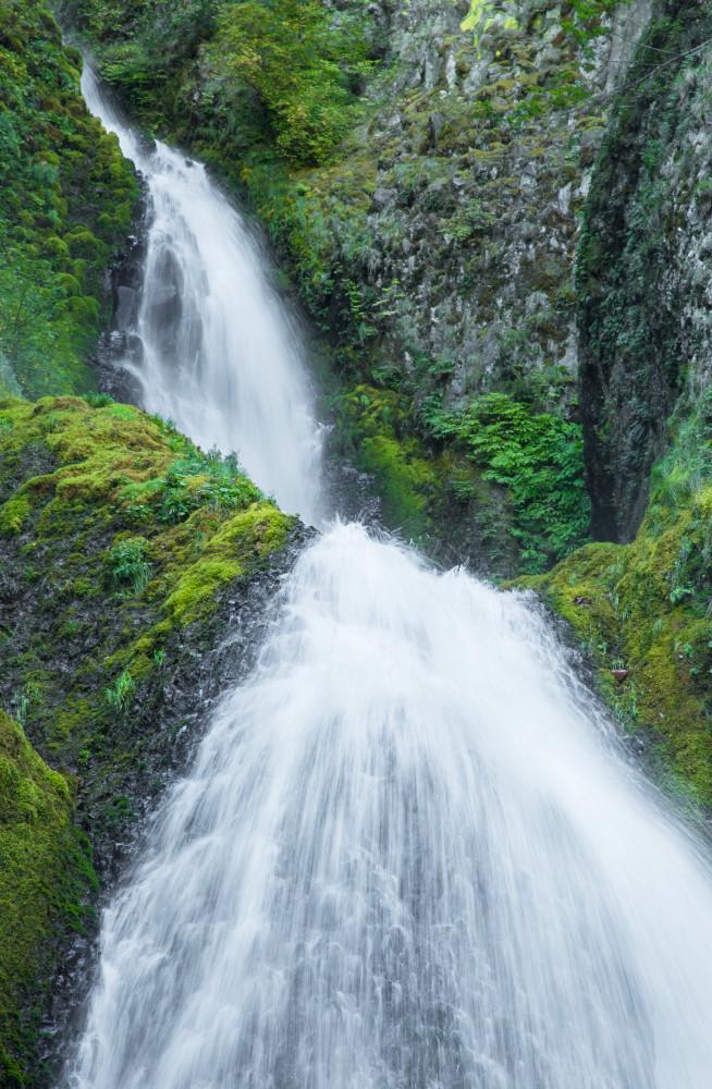 Wahkeena Falls Photography Art | Leiken Photography
