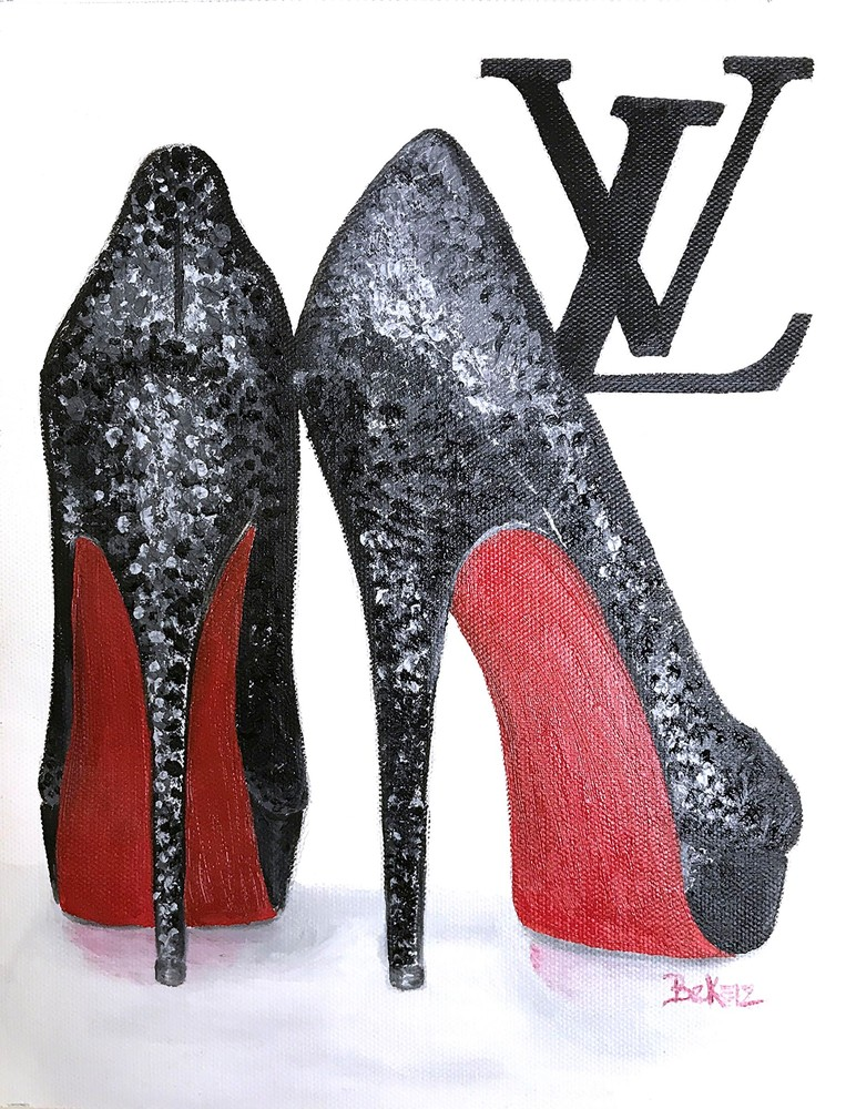 Louis Vuitton Red Bottoms Painting
