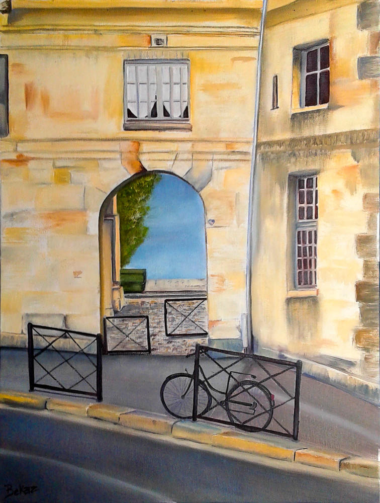 Paris Architecture Painting Rue de Seine