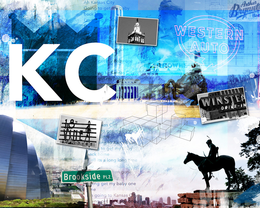 KC Icons 3 Fine Art Mixed Media Collage