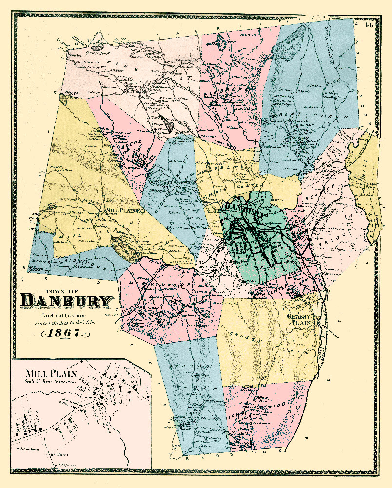 Map of Danbury, Connecticut