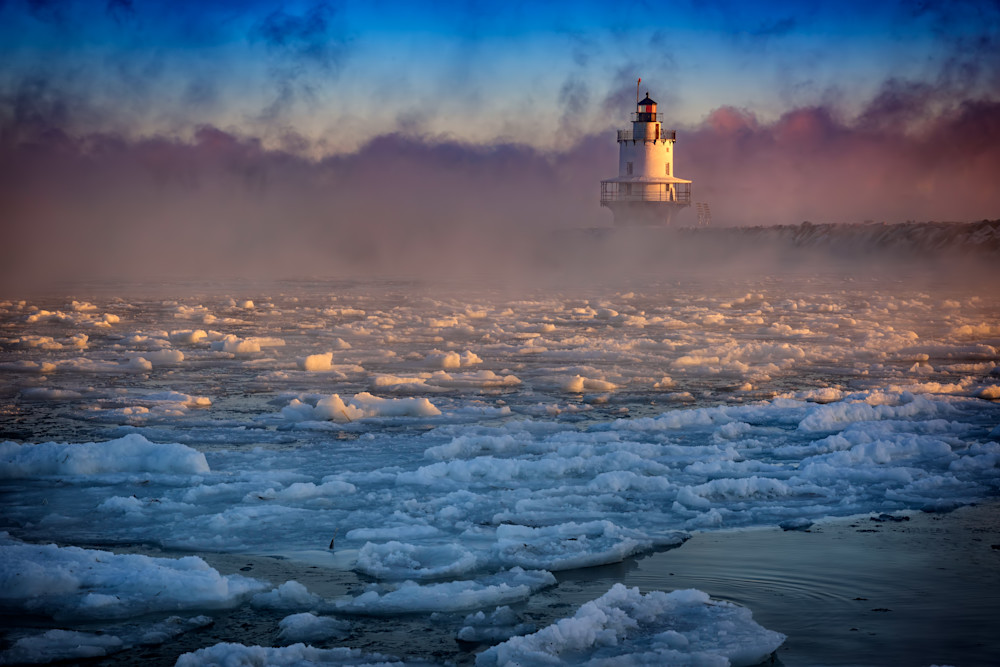 Deep Freeze at Spring Point Ledge Lighthouse
