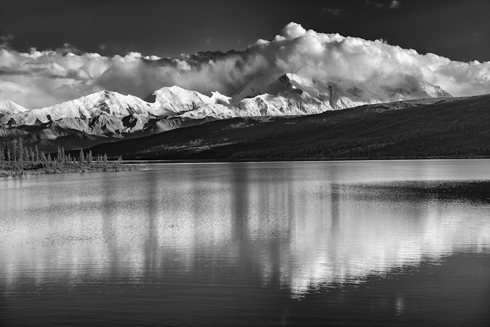 Wonder Lake Black & White by Rick Berk