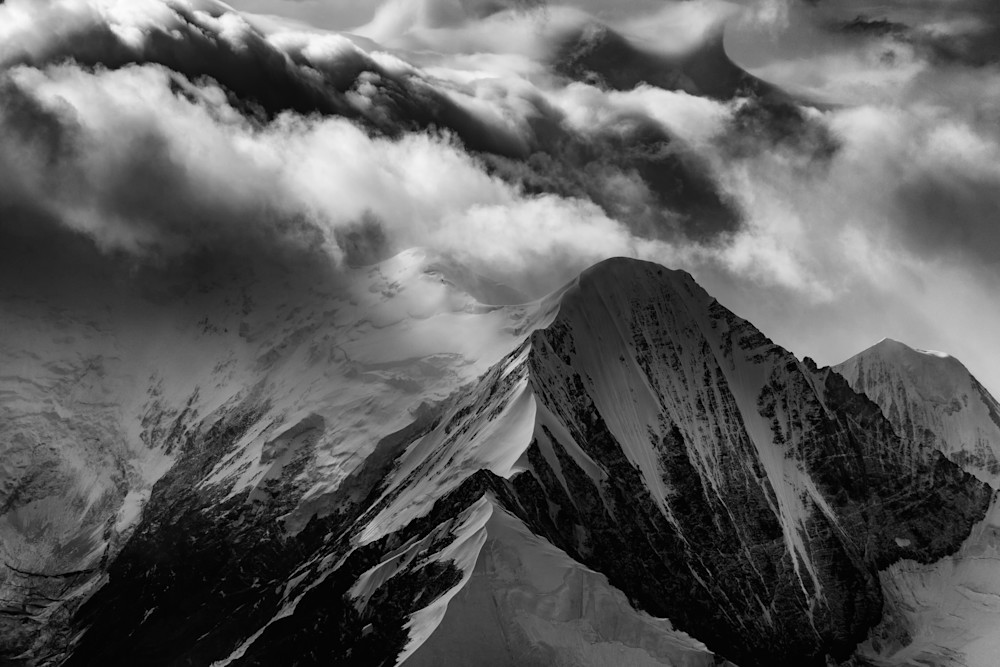 Mountain Peak Black & White by Rick Berk