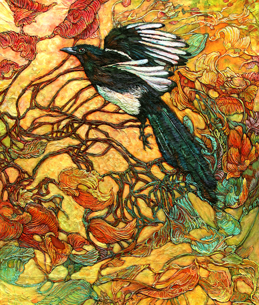 Fortune Collector, Magpie | Col Mitchell Contemporary Paper Artist