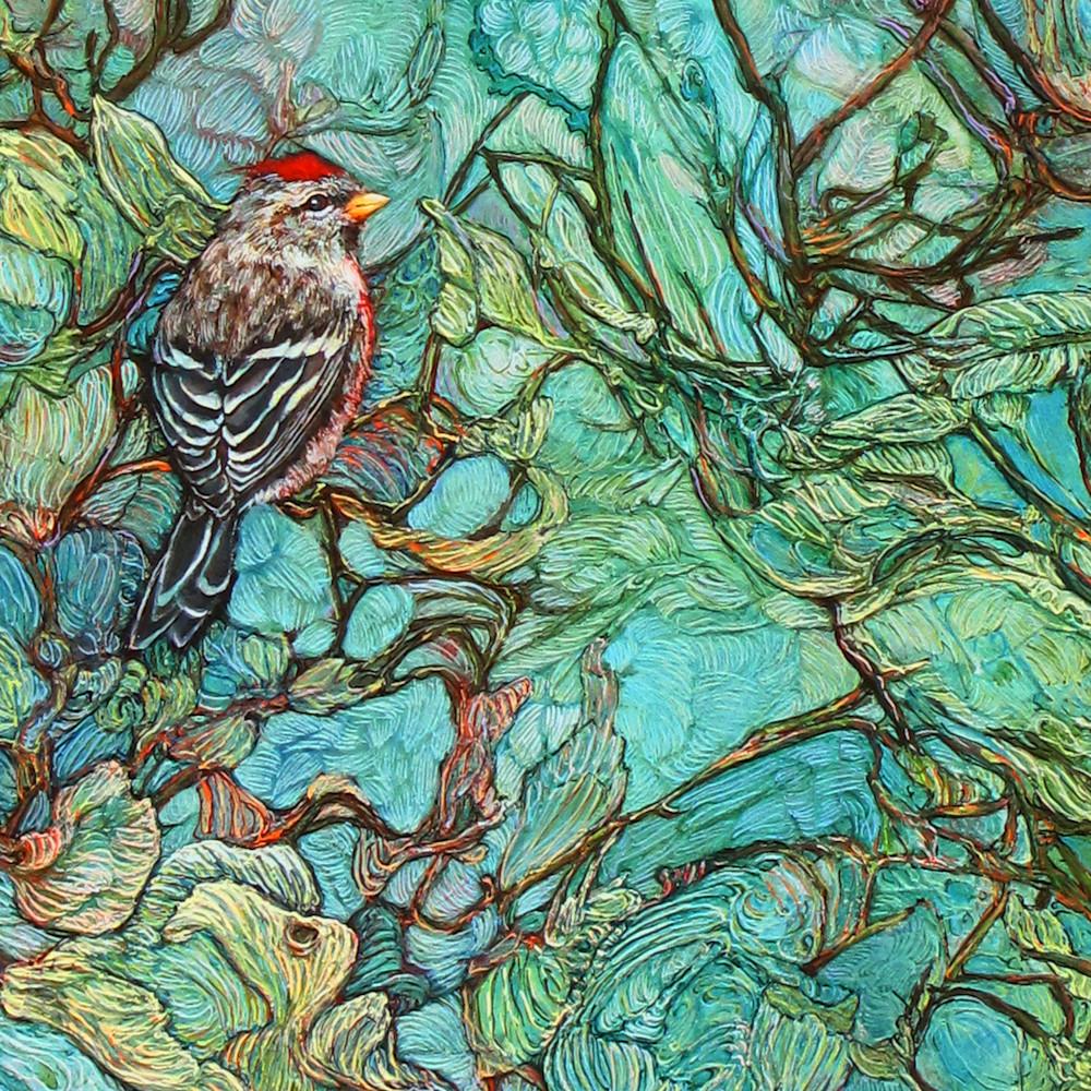 Aquamarine Labyrinth, crop 3   Col Mitchell Contemporary Paper Artist
