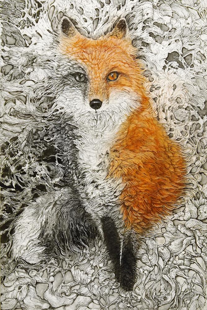 Vixen, Fox | Col Mitchell Contemporary Paper Artist
