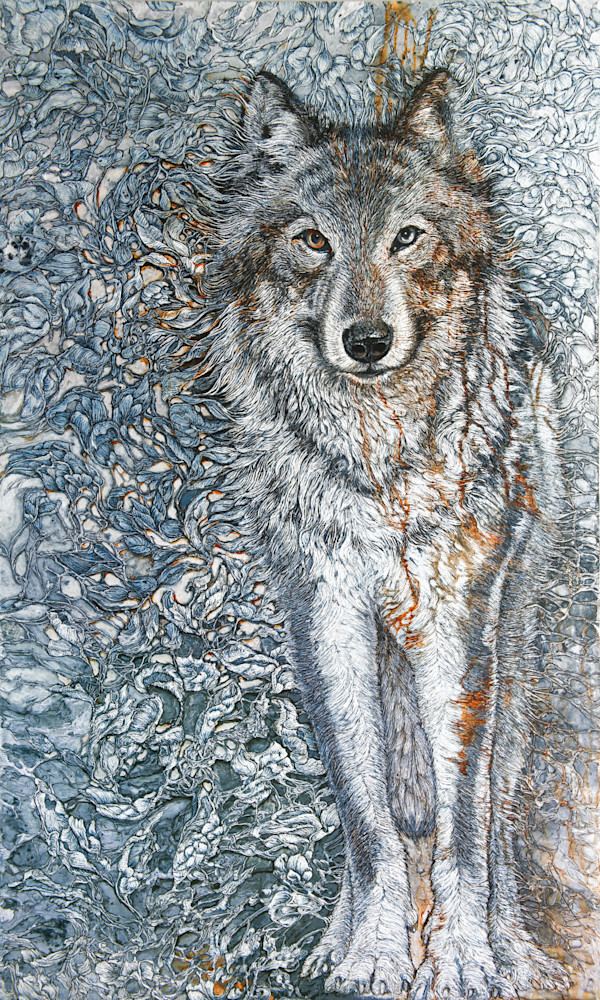 Titan's Companion, Timber Wolf | Col Mitchell Contemporary Paper Artist