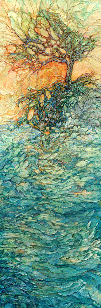 Tangled, Tree on Water | Col Mitchell Contemporary Paper Artist