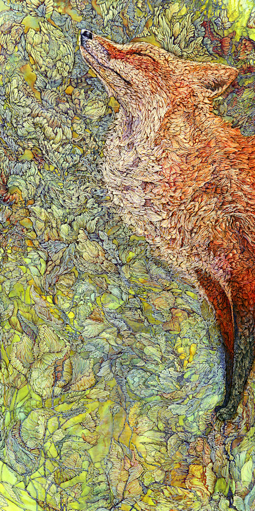 Scenting Sunshine, Fox | Col Mitchell Contemporary Paper Artist