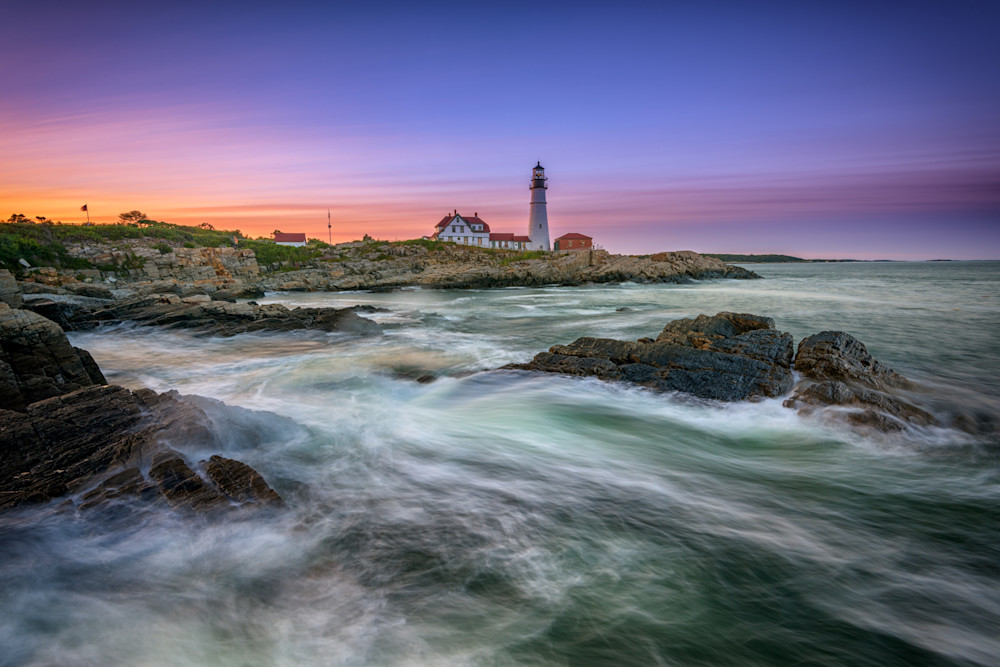 High Tide at Portland Head Lighthouse by Rick Berk