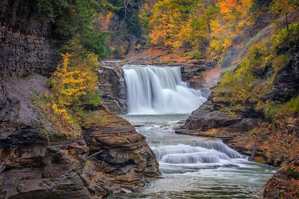 Lower Falls in Autumn by Rick Berk