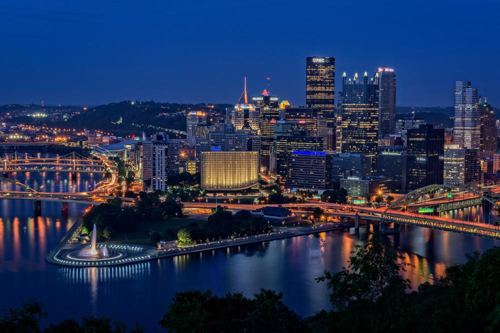 Steel City Glow by Rick Berk