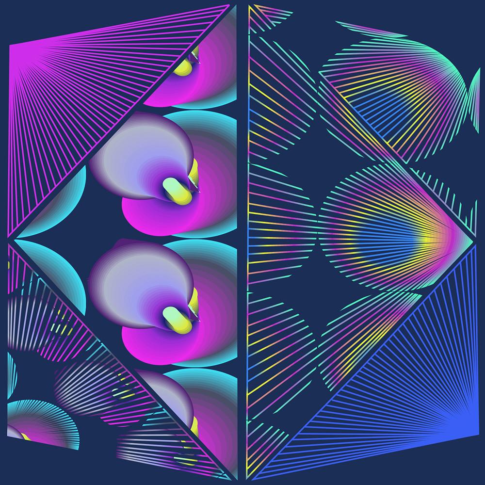 Caroline Geys | Floral Spectrum Vortex | Digital Art