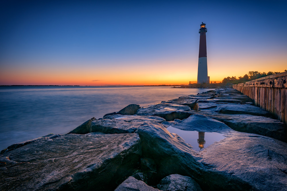 Reflections of Barnegat Light by Rick Berk