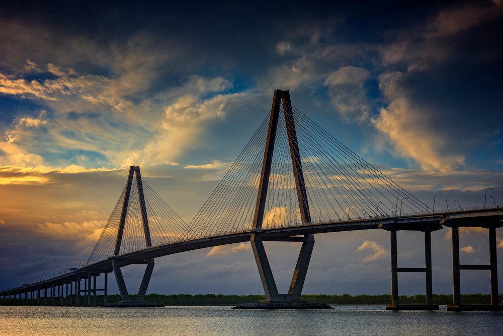 Ravenel Bridge Sunset by Rick Berk