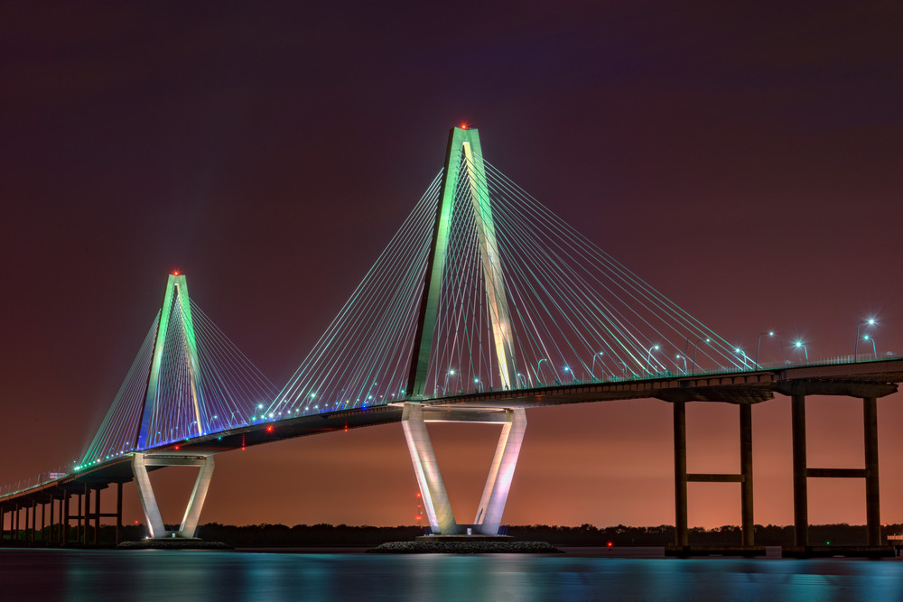 Ravenel Bridge Twilight by Rick Berk