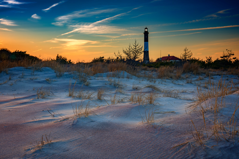 Sunset on Fire Island, fine art photo by Rick Berk
