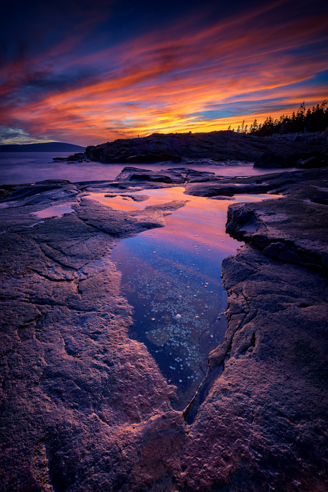 Dusk at Schoodic Point by Rick Berk