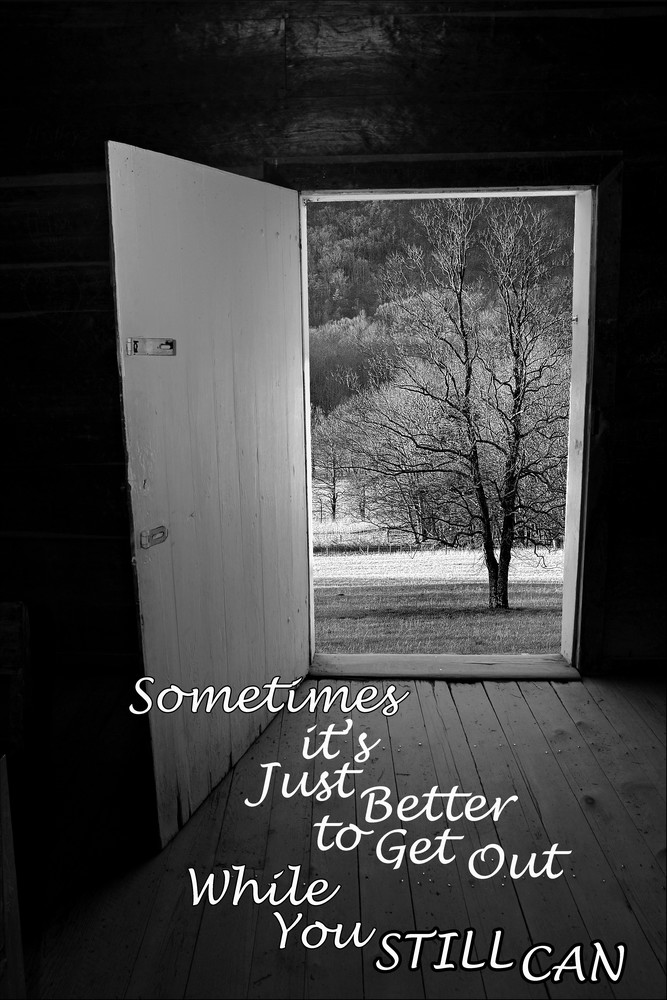 Sometime It s Just Better to Get Out