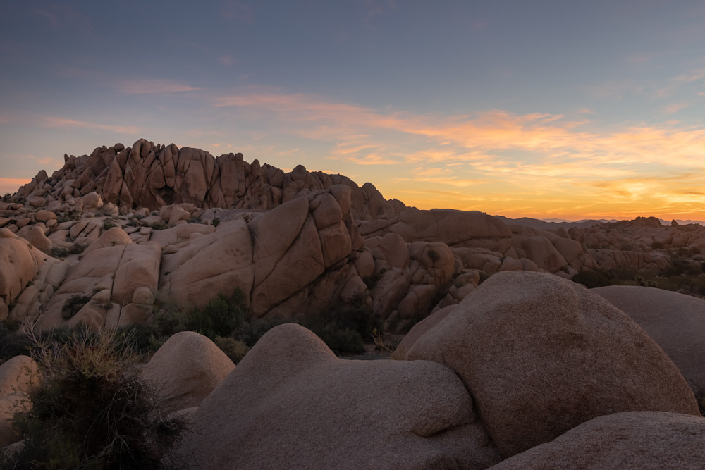 """Jumbo Rocks Sunrise"" Photograph for Sale as Fine Art."