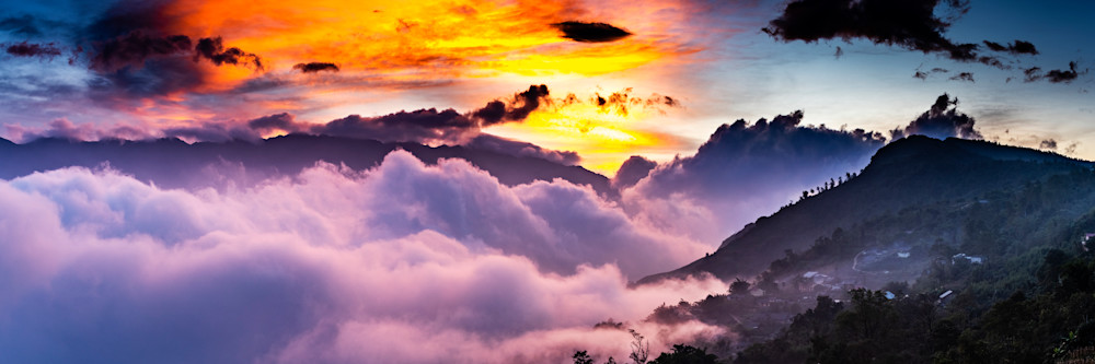 Sunset in Sapa Panorama