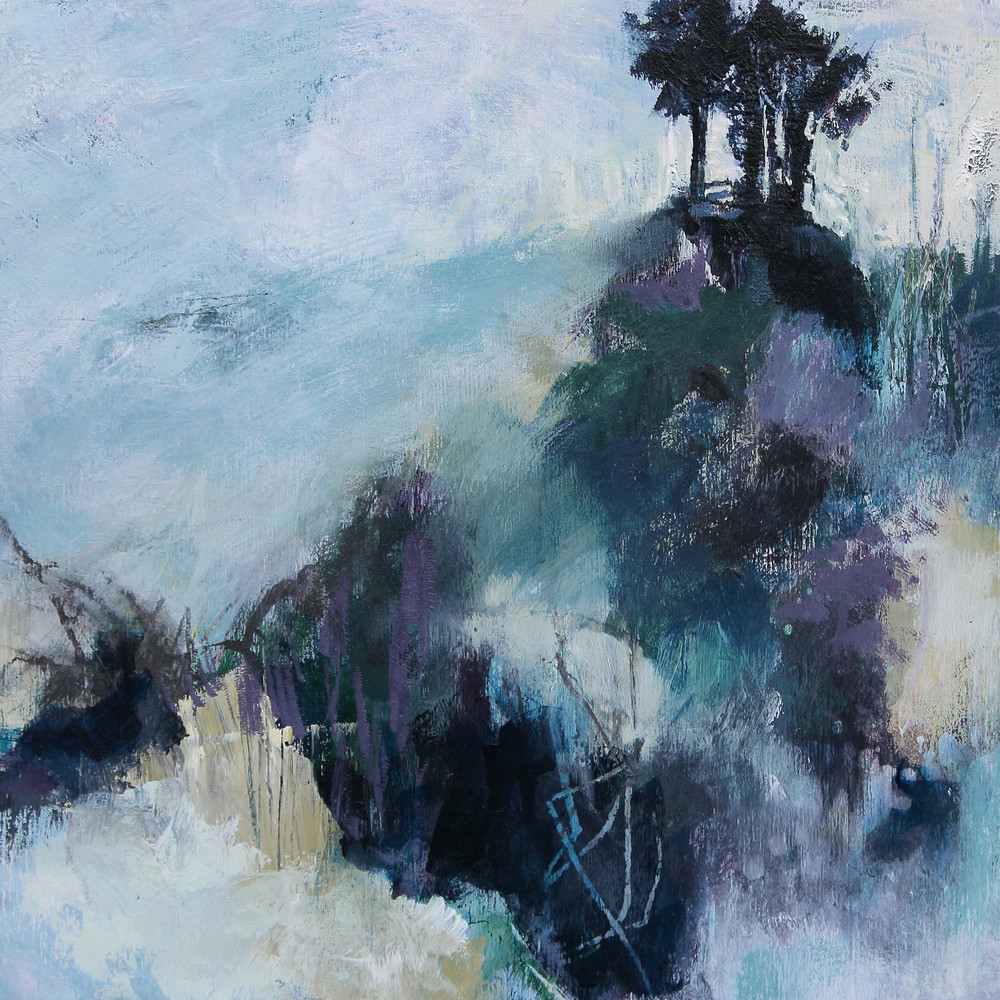 Beyond Winter, a landscape painting by Canadian artist Marianne Morris