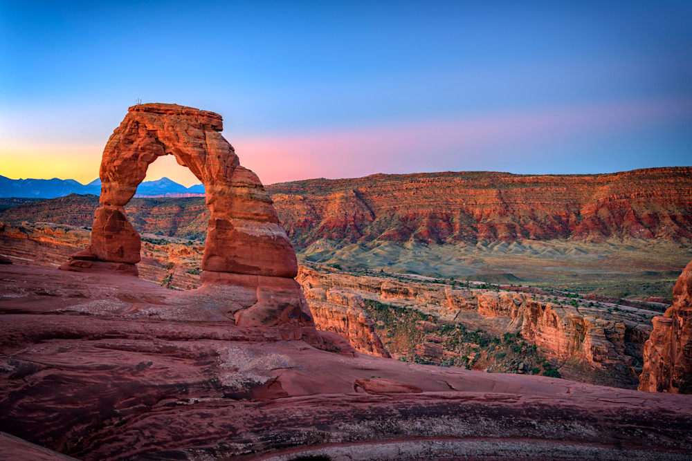Dawn at Delicate Arch by Rick Berk