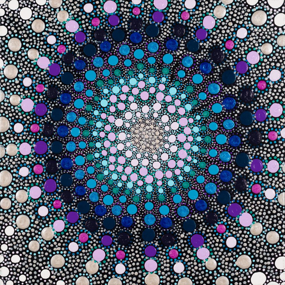 Purple & Blue No. 1 Print