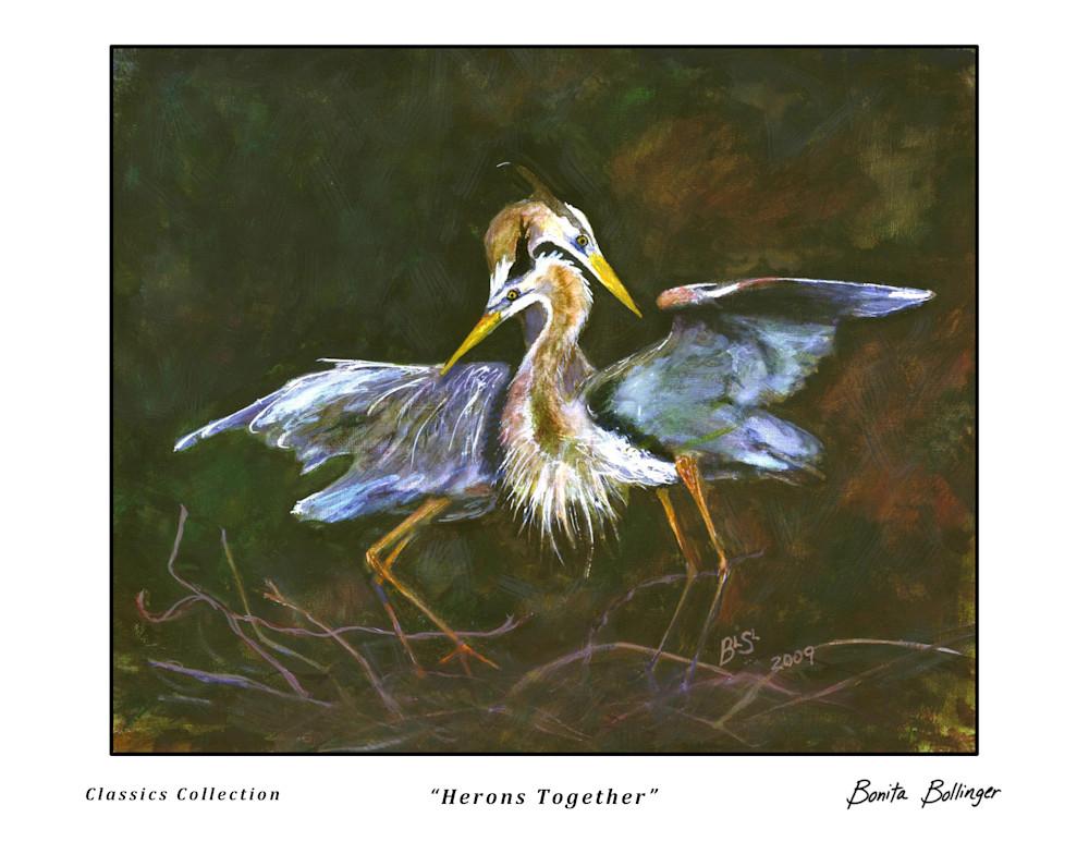 005 Herons Together Art   Blissful Bonita Art Studio & Gallery