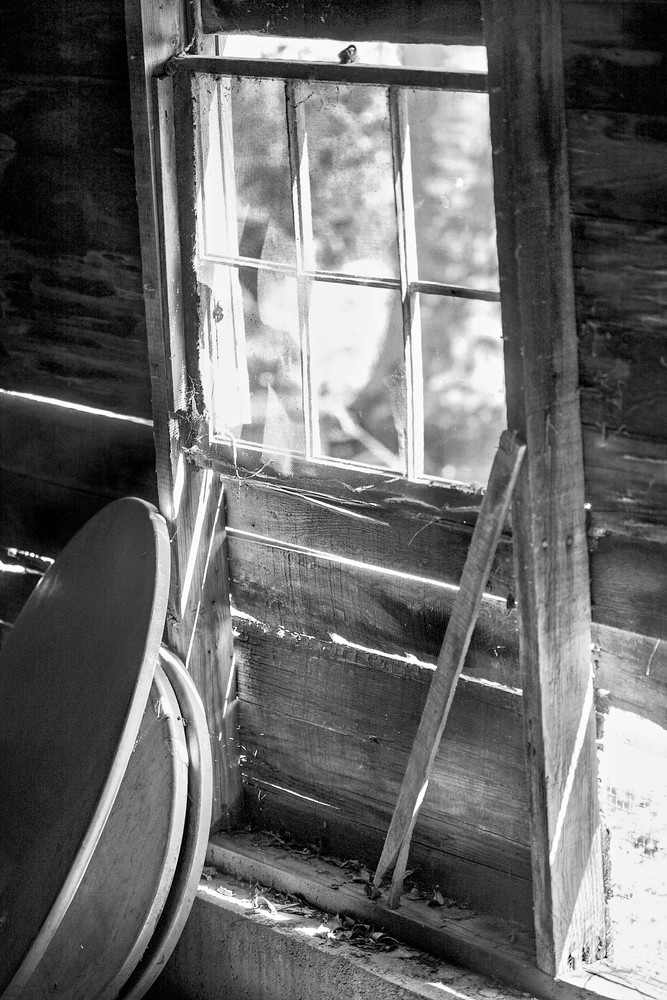 Luminous Light Collection   Barn Window - bw. A fine art black and white photograph by fine art photographer and artist, David Zlotky