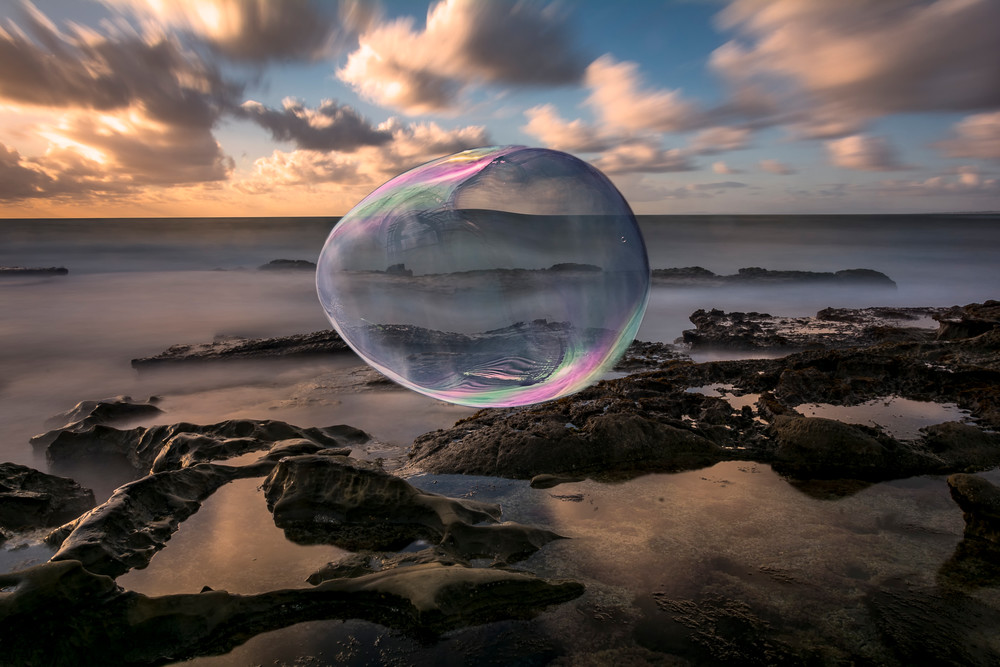 Bubble in the wind print