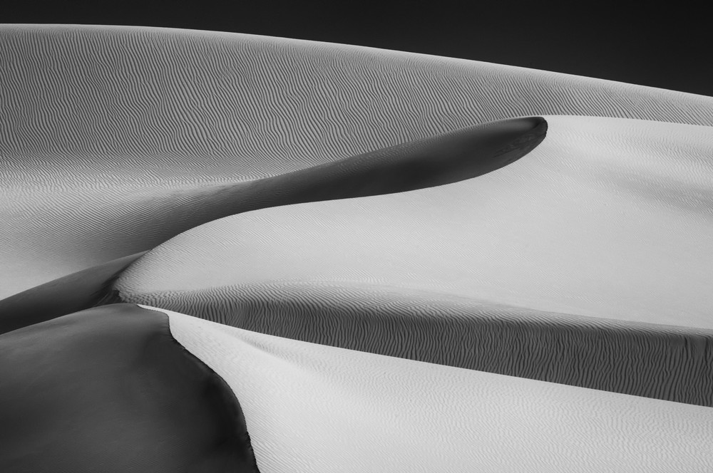 Sand Dunes black and white print