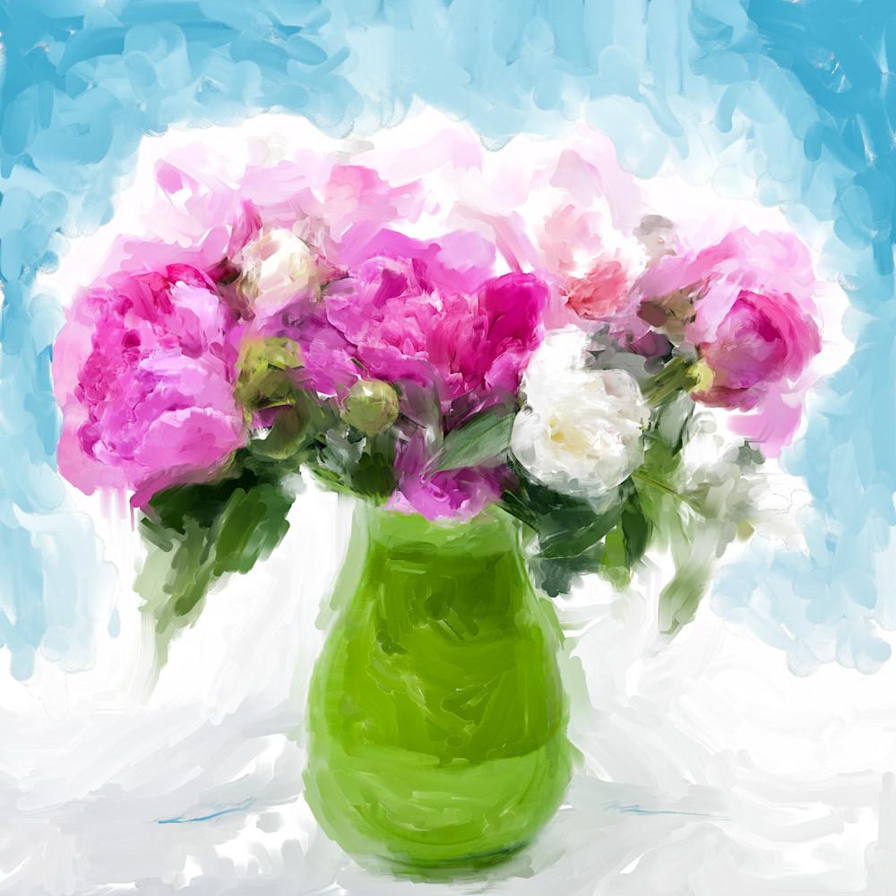 Pink Peonies art print by Christina Stefani